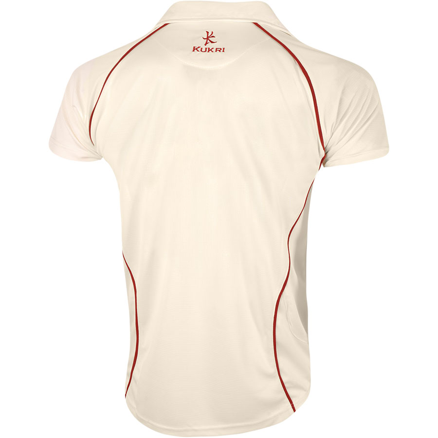 Cricket t shirt white - Cricket Jersey Off White Maroon Rollover Image To Zoom