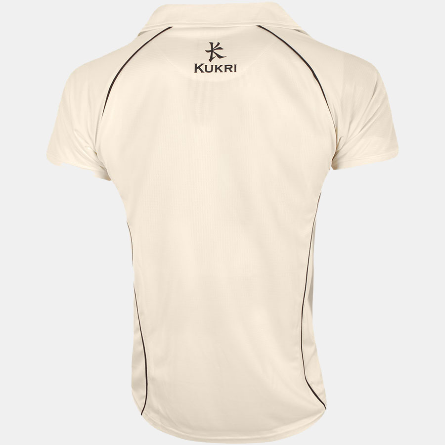 Cricket t shirt white - Cricket Jersey Off White Navy Rollover Image To Zoom